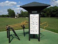 Stations d'entraînement au parc du Millénaire